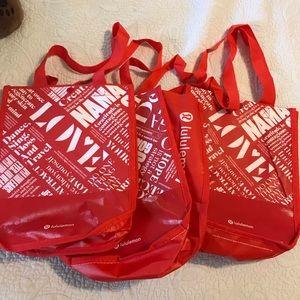 Bundle of 3 lululemon reusable bag
